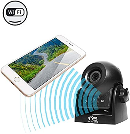 RVS-83112-WiFi WiFi Magnetic Hitch Camera for Easy Hitching of Trailers Travel Trailers and Fifth Wheels Rear View Safety