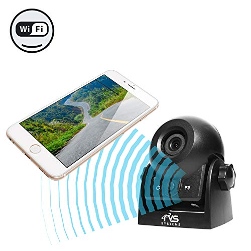 WiFi Magnetic Hitch Camera for Easy Hitching of Trailers, Travel Trailers and Fifth Wheels |...
