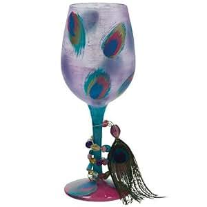 Santa Barbara Design Studio GLS11-5522L Lolita Love My Wine Hand Painted Glass, Ostentatious