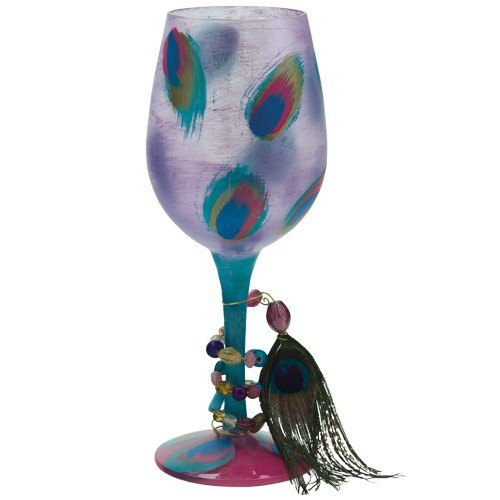 - Santa Barbara Design Studio GLS11-5522L Lolita Love My Wine Hand Painted Glass, Ostentatious