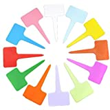 BeautyMood New 120PCS Plastic Waterproof Plant Nursery Garden Labels T-type Tags Markers Plant Stakes Re-Usable Plant Labels 12 Colors