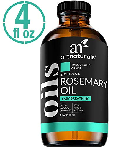 ArtNaturals Rosemary Essential Oil 4oz - 100% Pure Rose Mary Oils - Therapeutic Grade Best for Hair Growth, Natural Healing Solution, Aromatherapy & Diffuser - 120ml Large Glass Bottle w/Dropper Kit