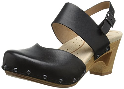 Dansko Women's Thea Dress Sandal, Black Full Grain, 37 EU/6.5-7 M US by Dansko