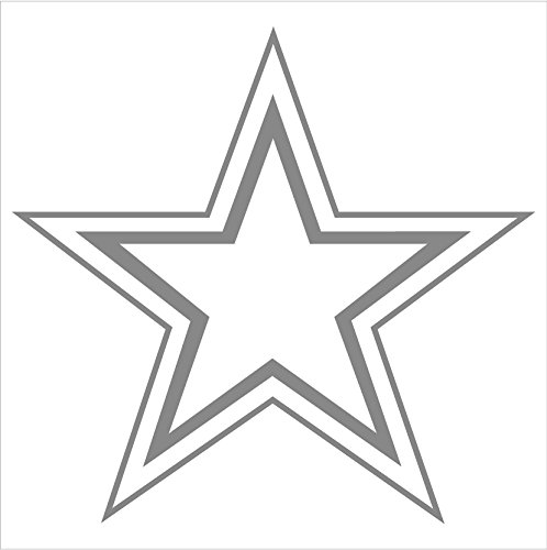(123Decals Star Double Outline Vinyl Decal Window Sticker (5.5