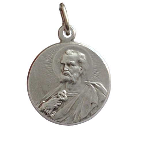 I G J Saint Peter The Apostle Silver Medal - The Patron Saints Medals