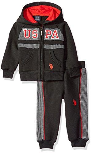 U.S. Polo Assn. Baby Boys 2 Piece Fleece Jog Set