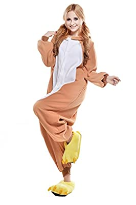 Halloween Adult Pajamas Onesie Animal Cosplay Costume (M, Easy Bear)