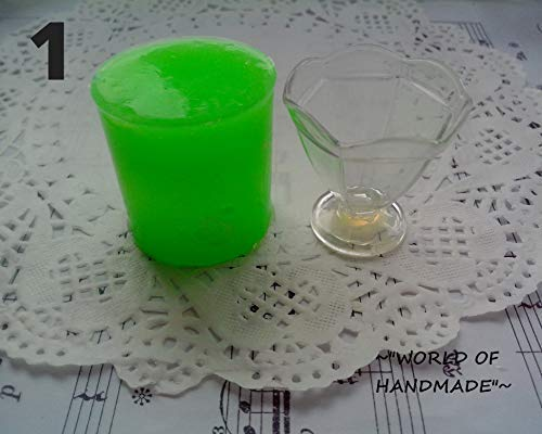 1:12 Forms for epoxy resin and plastic. Silicone 3D-molds in the form of candy dishes of various shapes and sizes