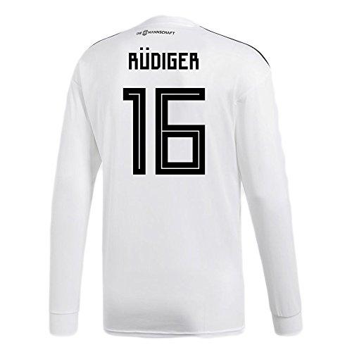 くつろぎ花火パイルadidas RUDIGER # 16 Germany Home Soccer Long Sleeve Stadium Jersey World Cup Russia 2018/サッカーユニフォーム ドイツ ホーム用 リュディガー # 16 長袖