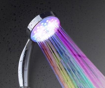 Soffione doccia illuminazione led rosso verde blu arcobaleno