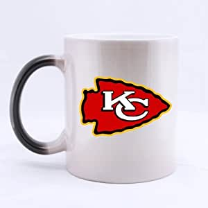 Custom Kansas City Chiefs Team Logo Funny Ceramic Coffee Tea Mug Morph Mugs Heat-activation Mug That Change With Heat by Lovely Shop
