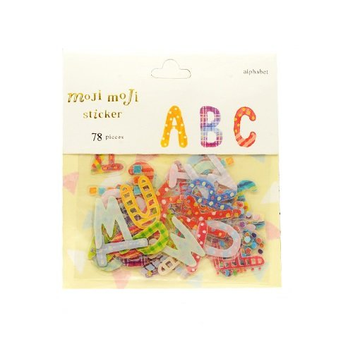 Sunny W Colorful Alphabet Stickers Flake Stickers,26 Letters,2 Sets/Total of 156 Pieces