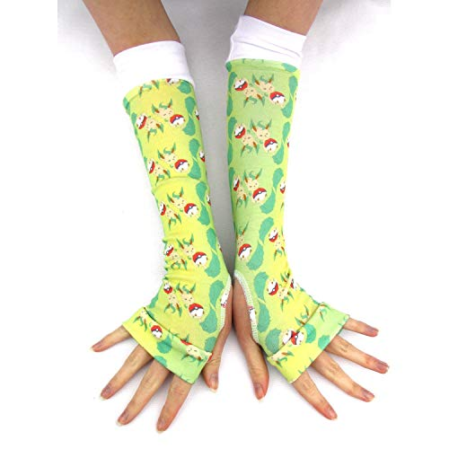 Video Game Leafeon arm warmers gloves]()