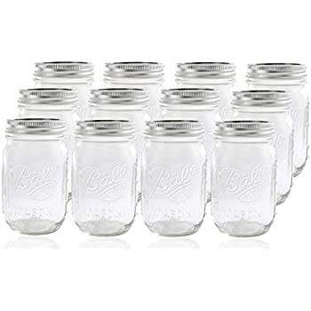 ball 16 oz mason jars. 12 ball mason jar with lid - regular mouth 16 oz by jarden jars