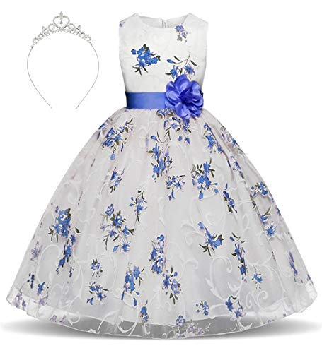 Girls Princess Dress Flower Printing 3D Roses Tulle for sale  Delivered anywhere in USA