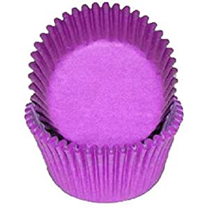 Golda's Kitchen 100 Count Solid Baking Cups, Mini, Purple