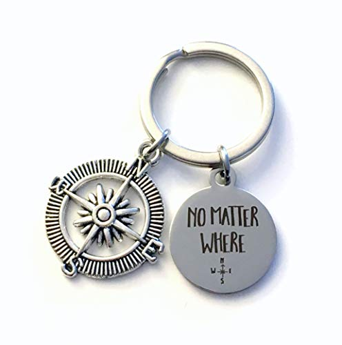 No Matter Where Key Chain, Gift for Boyfriend Keychain, Going Away Gift for Son or Daughter, New Driver's Licence Present, Valentine's Day, Birthday Keyring, Long Distance Friendship, Best Friend BFF (Best Birthday Surprise For Boyfriend Long Distance)
