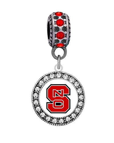 Final Touch Gifts North Carolina State Universiy Logo Charm Fits Most Bracelet Lines Including Pandora, Chamilia, Troll, Biagi, Zable, Kera, Personality, Reflections, Silverado and More … (Charm Bead Silverado)