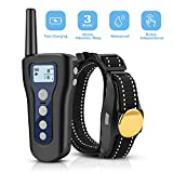 LOETAD Dog Training Collar with Remote 330 Yards Waterproof Rechargeable with Beep Vibration