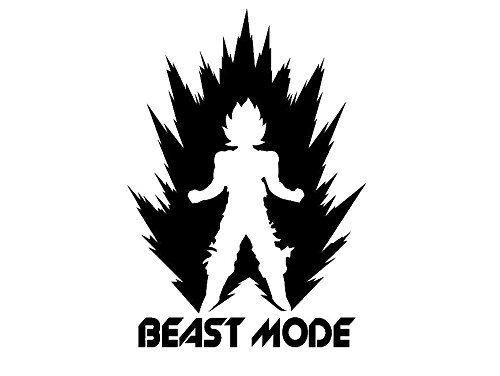 LCK Unique Design DBZ Dragon Ball Z Power Up Saiyan Beast Mode, White, 22 Inch, Die Cut Vinyl Decal, For Windows, Cars, Trucks, Toolbox, Laptops, Macbook-virtually Any Hard Smooth Surface by LCK Unique Design (Image #3)