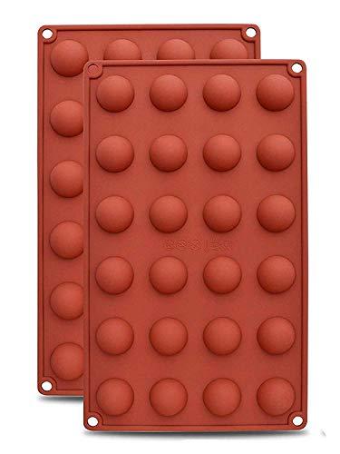 AxeSickle 2PCS Silicon Chocolate Mold Mini Hemisphere Half Round Shapes. ()