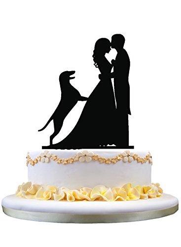 funny wedding cake decor with German Shepherd Dog , rustic wedding cake topper (German Shepherd Cake Topper)