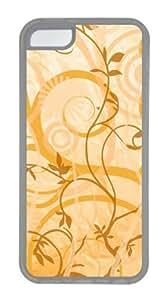 Customized Case Vine motifs TPU Transparent for Apple iPhone 5C