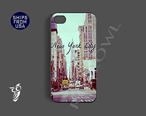Vintage New York City Retro Design Unique Iphone 4 Case, Iphone 4s Covers - C...
