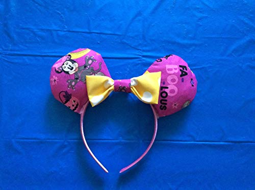 Handmade Disney Mickey Mouse Ears/Halloween/Minnie Mouse Boo/Mickey's Not So Scary Halloween -