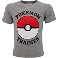 Fashion UK Camiseta de Pokémon original gris Trainer Pikachu Pokémon oficial camiseta niño