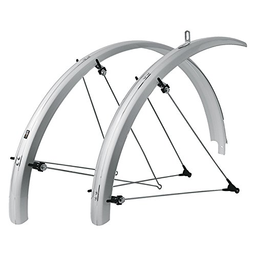 SKS B53 Commuter 2 Bicycle Fender Set (Silver, Fits Tire Sizes 700 x 38) -