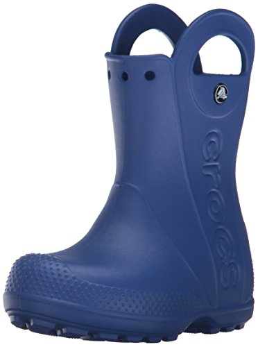 Crocs Kids' Handle It Rain Boots, Easy On for Toddlers, Boys, Girls, Lightweight and Waterproof, Cerulean Blue, 10 M US Toddler