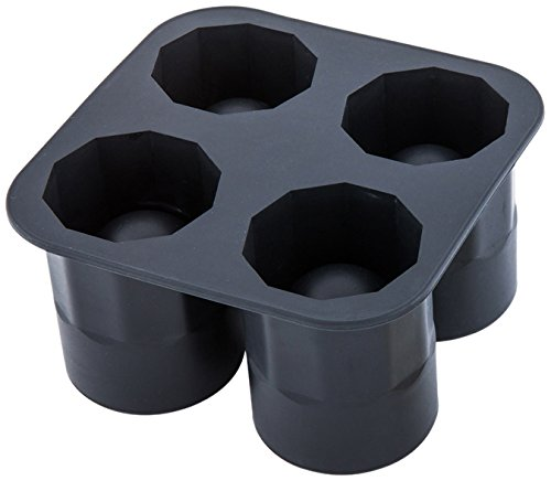 1.75-inch Ice Shot Glass Tray – Makes 4 Shot Glasses: Perfect for Commercial Bars or Home Use – Constructed from Durable Black Silicone – Dishwasher Safe – 1-CT – Restaurantware by Restaurantware