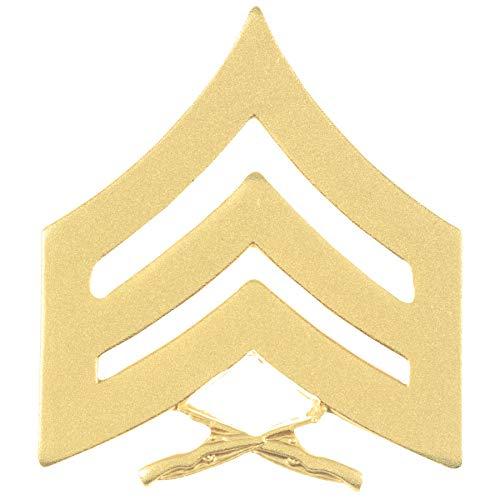 Medals of America United States Marine Corps (USMC) Chevron Satin Gold SGT Sergeant Pair Gold ()
