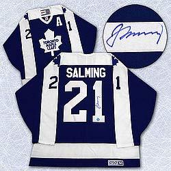 1dcb073917b Borje Salming Toronto Maple Leafs Autographed Vintage Jersey - Signed  Hockey Jerseys