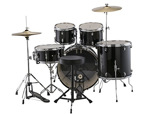 Brand New Ludwig LC170 Complete 5-Piece Drum Set Kit with Hardware, Cymbals, Hi-Hats, Throne, Pedal, Drumsticks and Drum Key