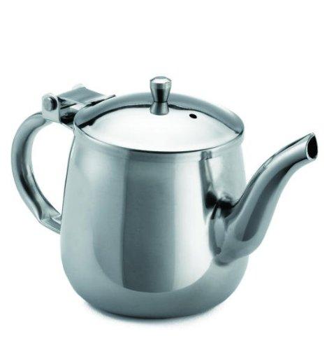 Tablecraft 18-8 Stainless Steel Gooseneck Teapot, 10 Ounce - 12 per - Ounce 10 Gooseneck Teapot