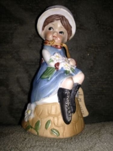 - Vintage Bisque Porcelain Adorabelles Bell Flower Girl Handcrafted Jasco 1979