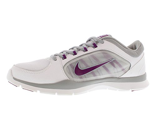 Nike Wmns Flex Trainer 4 - Zapatillas para El Gimnasio para Hombre White/Silver/Bright Grape