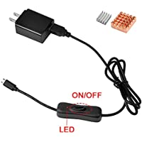 Gowoops 5V 2.5A Power Supply Adapter Charger for...