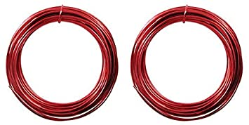 Aluminum Craft Wire 12 Gauge 39 Feet RED 42612 by Minor Details Beadsmith 4336834416