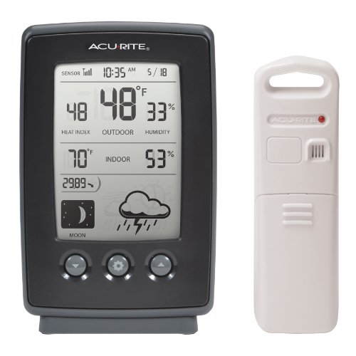 Moon Weather Station - AcuRite 00829 Digital Weather Station with Forecast/Temperature/Clock/Moon Phase