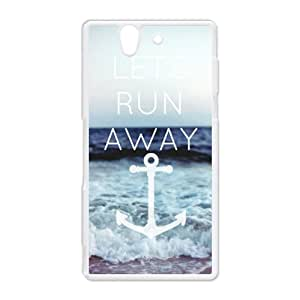 Sony Phone Case - Hot selling - Funny Cute & Classic Let's Run Away Pattern Sony Xperia Z Hard Plastic Case