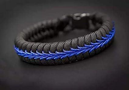 Thin Blue Line Police * Fairfax Co VA Paracord Bracelet