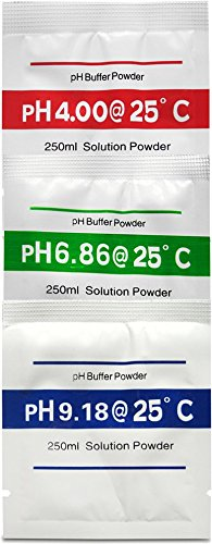 1 Buffer (Digital Aid pH Calibration Powder (4.00pH, 6.86pH, and 9.18pH). Light and Portable Just Add Distilled Water. Makes 3 Cups of pH Calibration Buffer Solution, 1 of Each 4.00pH, 6.86pH, and 9.18.)
