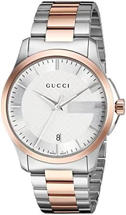 Gucci Swiss Quartz Stainless Steel Dress Two-Tone Men's Watch(Model: YA126447)