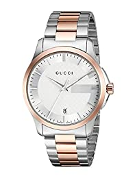 Gucci YA126447 G-Timeless Rose Gold Plated Stainless Steel Bracelet Strap Watch