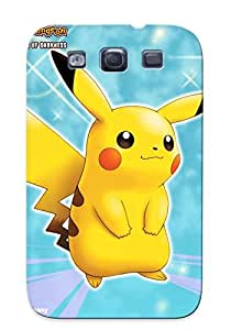 Galaxy S3 Case Cover - Slim Fit Tpu Protector Shock Absorbent Case (pokemon Pikachu I Among The Most Mon Cartoon Character Through)