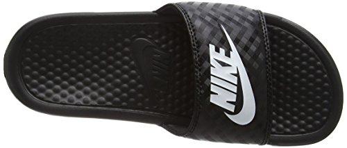 white Benassi Chanclas Nike Negro 011 Para Jdi Mujer Wmns black Fpv1qwO