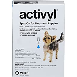 Activyl Over 4 Pounds and Up To 14 Pounds 6pk Dogs by Merck
